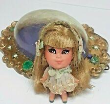 Vintage Mattel Liddle Kiddles Lucky Locket Kiddle LOU Doll and Locket