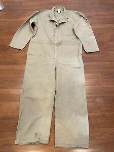 BULWARK FR Flame Resistant Coveralls Tan Coveralls 48-Short Patched XL