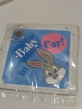 """""""Baby In Car"""" Window Safety Sign Baby Bugs Bunny Looney Tunes New In Package"""