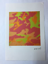 Andy Warhol Lithographie 57 x 38 Arches France Timbre Sec Galerie Art A126