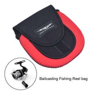Double Layer Spinning Fishing Reel Bags Menacing Wheels Protective Storage cWFI