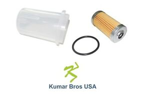 New Yanmar Fuel Filter with O-ring & BOWL YM2000 YM2000D YM2200 YM2200D