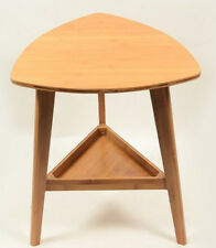 Bamboo Wooden Triangle Table Flower Vase Stand, Stylish Strong Solid Storage竹茶几
