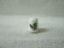 THIMBLE--Fine Bone China with  Christmas Theme---House of Goebel England--New