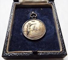 More details for shooting fob medal vintage cased 1945 solid sterling silver medal
