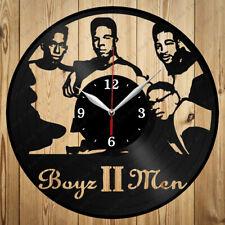 Vinyl Clock Boyz II Men Handmade Gift Original Vinyl Wall Clock Art Home 4276