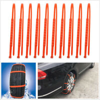 10 Pcs TPU Material Car Off-Road Winter Tyres Wheels Snow Chains Anti-Skid Tool