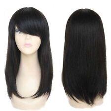 100% Real Hair! Natural Black Brazilian Straight Full Wig Straight Human Hair