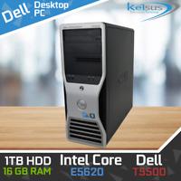 DELL PRECISION T5500 XEON E5620 6 Core 1TB 480GB SSD 16GB WINDOWS 10
