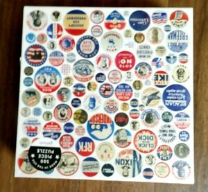 """New Sealed Gallson 500pc Puzzle Button Up America 19"""" x 19"""" U.S. Presidents"""