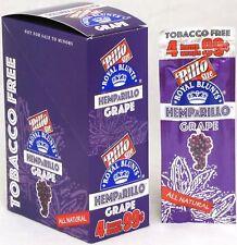 Hemparillo Grape Hemp Wraps Rilla Natural Rolling Papers 15 Packs Box 60 Wraps