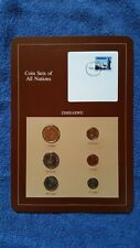 Coin Sets of All Nations Zimbabwe  w//card  1980-1983 UNC 12c stamp