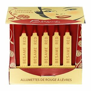 Besame Classic Color Lipstick Matches - Besame Red - SC208
