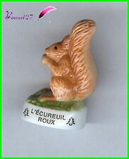"""Feve Les Animaux de la Fôret Edition Atlas """" L' Ecureuil Roux """" squirrel #B23"""