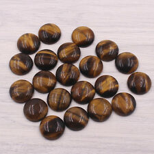 Wholesale fashion natural tiger eye stone beads 20mm round CAB cabochon 20pcs