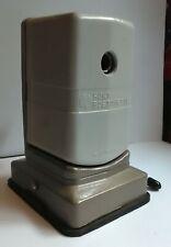 Vintage Hunt Bostonette Pencil Sharpener, beige, suction cup base, used, works