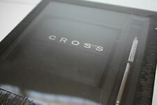 CROSS COMBO GIFT SET CREDIT CARD LEATHER WALLET AGENDA PEN BLACK / TAUPE RRP £75
