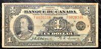 RARE! 1935 $1 FRENCH BANQUE DU CANADA - FINE