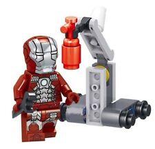 Golden Iron Man Downey Avengers Marvel Tony Stark MK5 Custom Lego Mini Figure