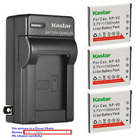 Kastar Battery Wall Charger for Casio NP-60 BC-60 & Casio Exilim Zoom EX-Z80