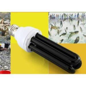 E27 110V Blacklight Low Energy CFL UV Light Bulb Screw Ultraviolet Black Lamp