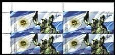 ARGENTINA 2012, MILITARIA FLAG HORSE BLOC OF 4 YV 2938 MNH