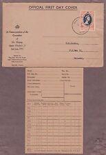 Kenya Uganda & Tanzania # 101 FDC , 1953 QEII Coronation - I Combine S/H