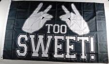 Too Sweet Flag Pro Wrestling Banner 36x60 New wwe wwf NWO Bullet Club Bucks