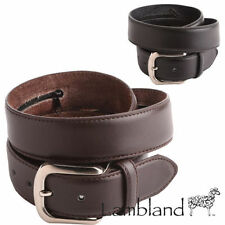 Leather Solid Medium Width Belts for Women