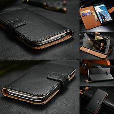 Luxury Genuine Leather Flip Wallet Case Cover For Google Nexus Phones
