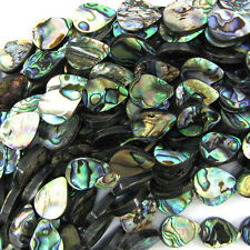 "18mm abalone shell flat teardrop beads 16"" strand S1"