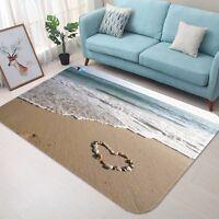 3D Beach Sea 4 Non Slip Rug Mat Room Mat Quality Elegant Photo Carpet AU Summer
