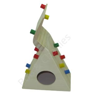 Hamster Cage Toy House Wooden Climbing Wall Frame Den Activity Centre Boredom