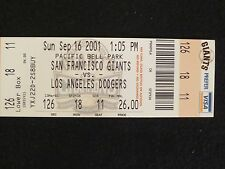 BARRY BONDS S.F. GIANTS HIT HOME RUN # 73 RARE BASEBALL TICKET STUB 10/7/2001