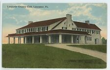 Country Club in LANCASTER PA Vintage County Pennsylvania Postcard