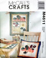 Harvest Sampler Pattern by McCall's Crafts M4611 Wall Hanging Quilt Table Runner