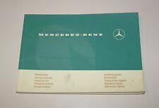 Operating instructions mercedes Benz Light Vans-Stand 1973!