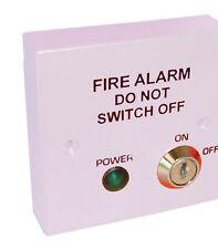 Alarme incendie spur 230v secteur isolateur interrupteur fusible pour BS5839-blanc libre p&p