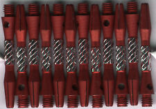 1.5in. 2ba Red Checker Aluminum Dart Shafts: 3 per order
