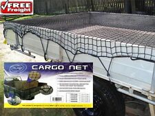 Cargo Net  Dual Cab Ute 1.5m x 2.2m Bungee Cord 35mm Mesh Hooks  Safe & Legal