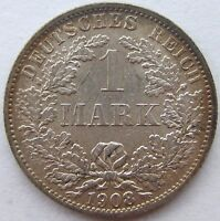 Superior! 1 Marco 1908A En Extremely fine