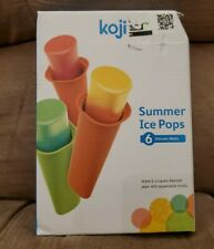 BRAND NEW Koji Summer Ice Pops 6 Silicone Molds