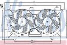 New Fan radiator for CITROEN-PEUGEOT 85074 Nissens Top Quality