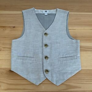 JANIE AND JACK Special Occasion Gray Suit Vest Size 4 4T