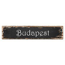 SP0147 Budapest Street Sign Bar Store Shop Pub Cafe Home Room Chic Decor