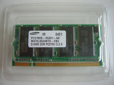 SAMSUNG PC2700S PC2700 512MB x 1 DDR RAM MEMORY CL2.5 200PIN M470L6524BT0 NOS