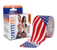 "Sports Tex ""Kinesiology Tape"", 5cm X 5M, [US FLAG] Single Roll - FREE SHIPPING"