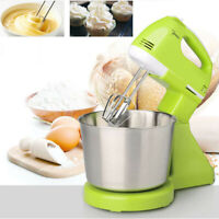 7 Speed Electric Food Cake Egg Cookie Blender Bowl Dough Handheld & Stand