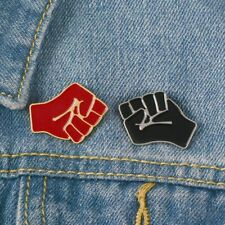 unity brooches solidarity black lives matter Pin Raised fist black red power of