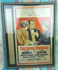 Vtg Movie Poster & Tickets Framed THE HOME TOWNERS Majestic Theatre Rice Lake WI